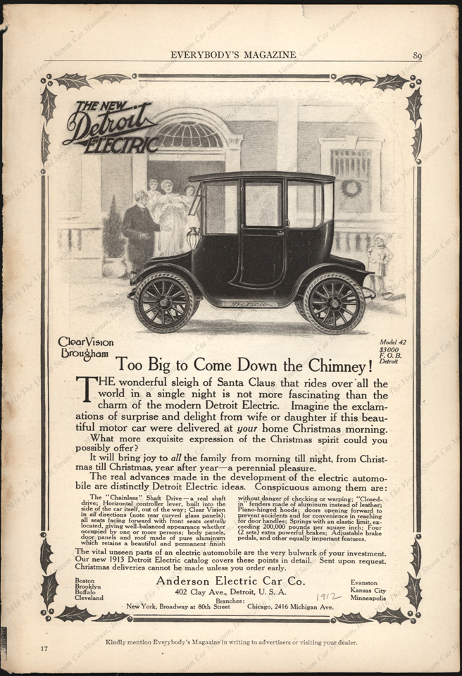 Anderson Electric Car Comp;any, Detroit, MI, 1912, Everybody's Magazoie