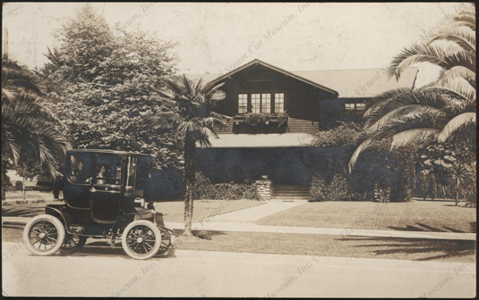 Real Photo Post Card image of an unidentified electric car, front