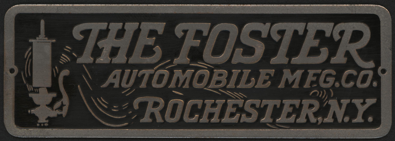 Foster Automobile Manufacturing Company Name Plate