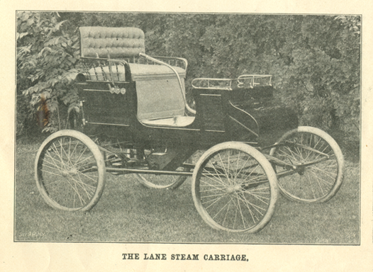 Lane Motor Carriage Company, Scientific American, March 1, 1902, p. 138a Carriage Illustration