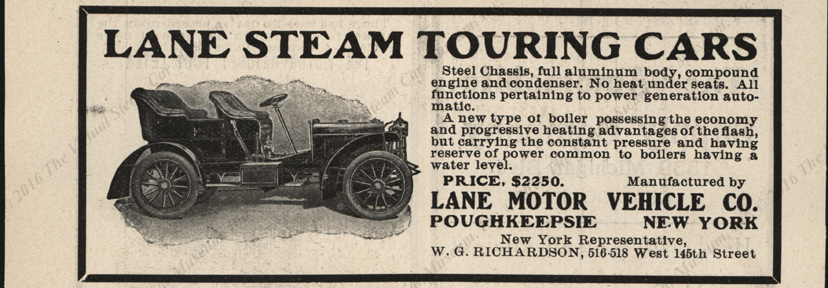 Lane Motor Vehicle Company, Cycle and Automobile Trade Jornal, Magazine Advertisement, 1904, page 464.