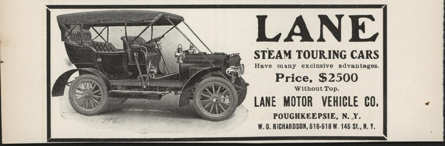Lane Motor Vehicle Company Magazine Advertisement, May 1906, Cycle and Autombile Trade Journal, p. 336, Conde Collection