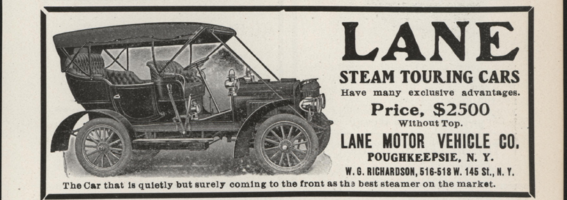 Lane Motor Vehicle Company Magazine Advertisement, March 1907, Cycle and Autombile Trade Journal, p. 453, Conde Collection