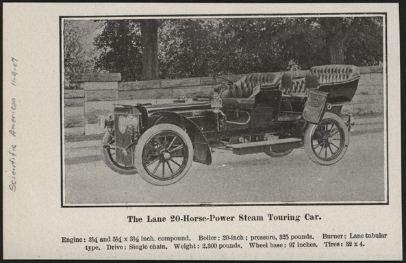 Lane Motor Vehicle Company Magazine Advertisement, Scientific American, November 9, 1907 Conde Collection