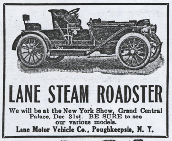Lane Motor Vehicle Company Magazine Advertisement, Cycle and Automobile Trade Journal, January 1909, p. 408, Photocopy, Conde Collection