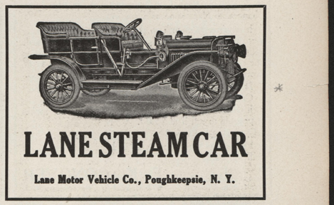 Lane Motor Vehicle Company Magazine Advertisement, Cycle and Automobile Trade Journal, April 1910, p. 379, Conde Collection