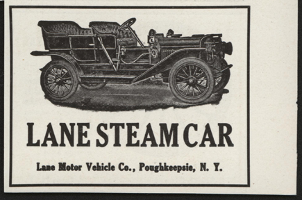Lane Motor Vehicle Company, Magazine Advertisement, May 1910, Cycle and Automobile Trade Journal, Conde Collection