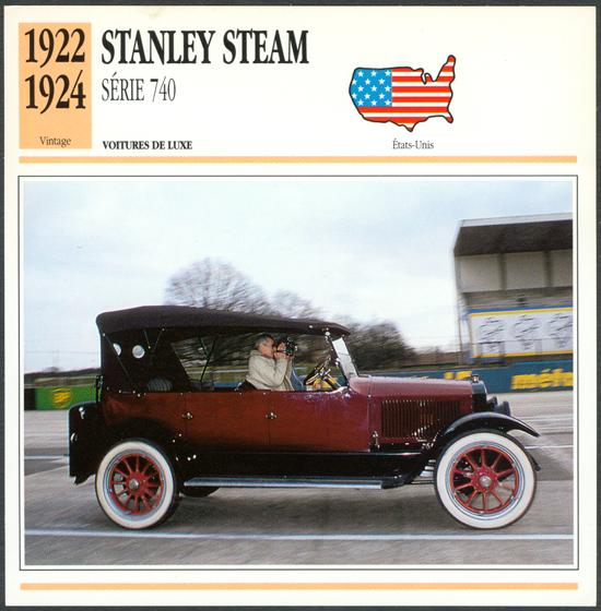 Stanley Steam Car Modern Ephemera