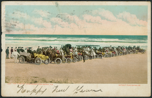 Ormond Beach Postcard THE LINE UP December 29, 1905