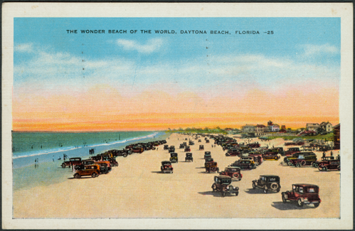 Ormond Beach Linen Post Card 1938