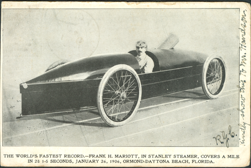 Fred Marriott in The Rocket 1906 Photo Postcard