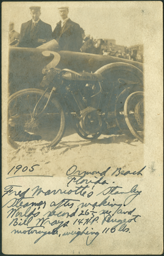 RPPC Fred Marriot's Racer & Bill Wray's Motorcycle