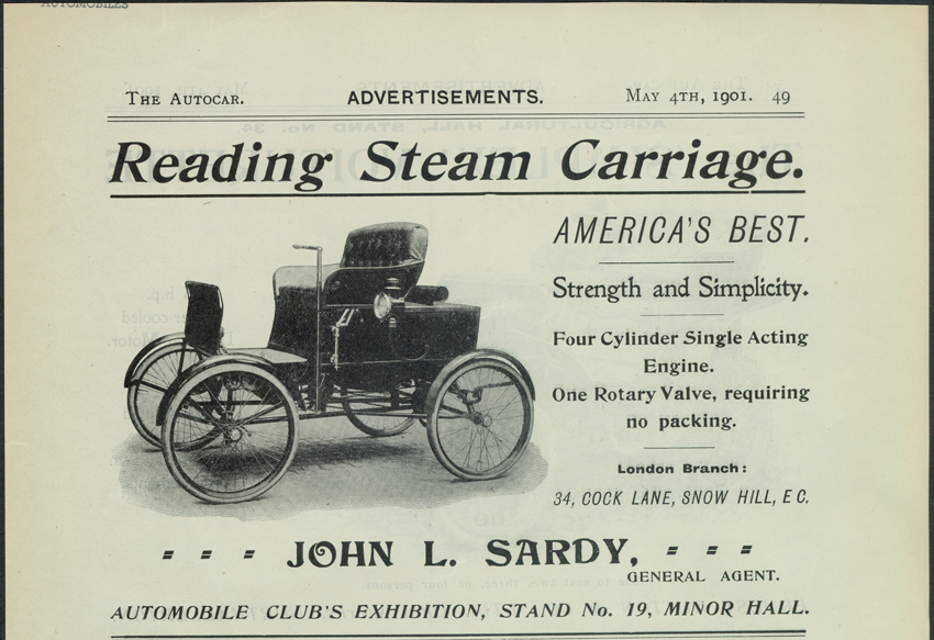Reading Steam Carriage, Steam Vehicle Company of America, The Autocar, May 4, 1901
