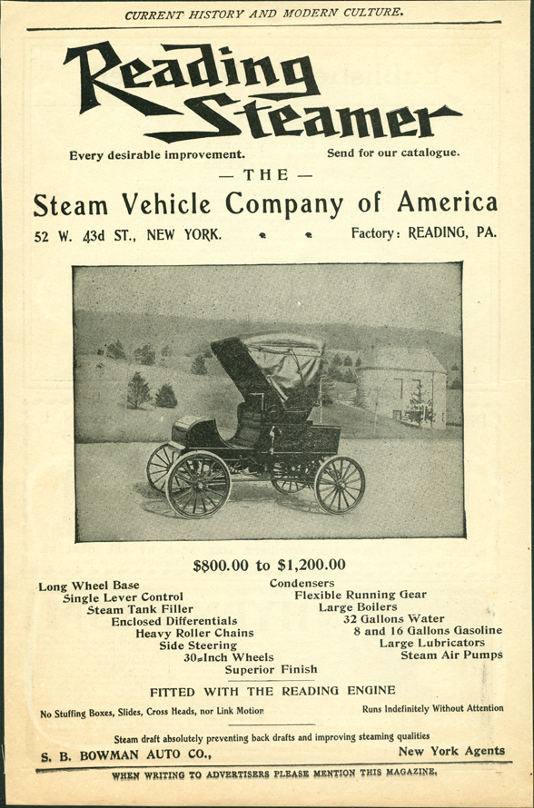 Steam Vehicle Company of America, Reading Steamer, August 1902