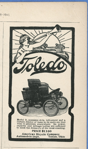Toledo Steam Carriage, American Bicycle Company, Automobile aDepartment, December 19, 1901, Life Magazine, Conde Collection